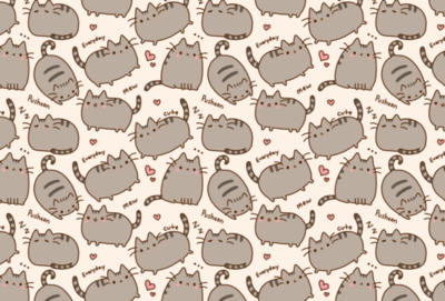 Customize Pusheen Cat Wallpaper