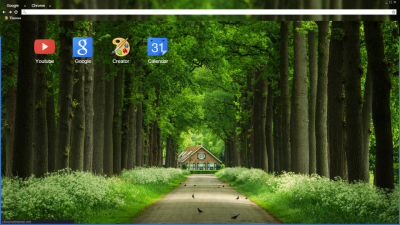 Nature Green Forest Blur Background Full Hd Chrome Themes Themebeta
