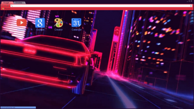 gmc car future synthwave fast night city Chrome Themes