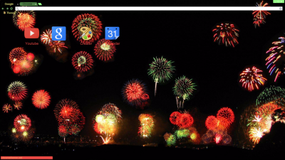 fireworks at happy new year nigh