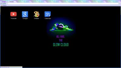glow cloud chrome themes themebeta