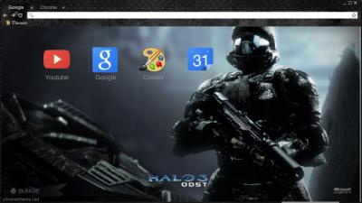 Halo 3 ODST Chrome Themes - ThemeBeta