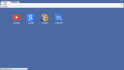 Blue Face Chrome Themes - ThemeBeta