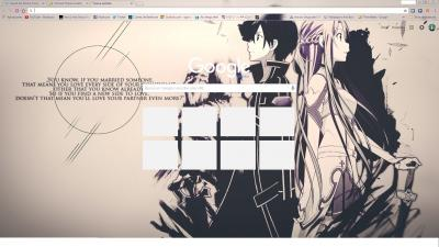 Sword Art Online Chrome Themes - ThemeBeta