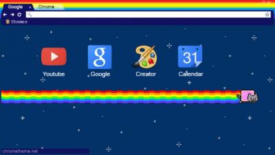 nyan cat Chrome Themes - ThemeBeta