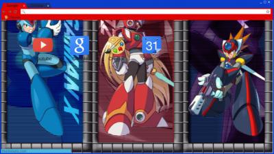 Megaman Chrome Themes - ThemeBeta