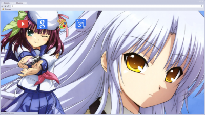 yuripee yuripee angel beats fight kanade vs yurippe yurippe school  yuripee chrome themes themebeta angel beats