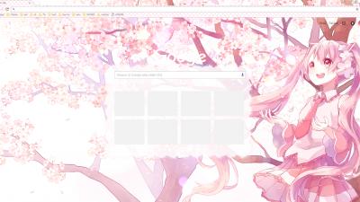 Sakura Miku Chrome Themes Themebeta