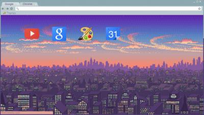 tumblr pixel background Chrome Themes - ThemeBeta