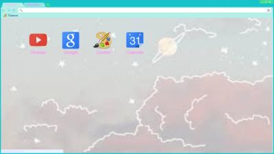 space pastel tumblr aesthetic Chrome Themes - ThemeBeta