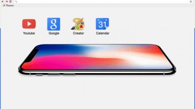 iPhone X Chrome Themes - ThemeBeta
