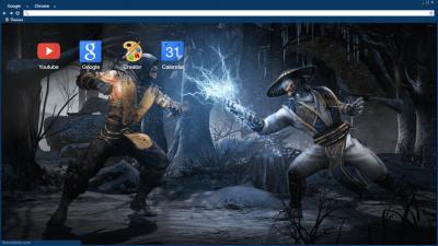Scorpion vs Raiden Mortal Kombat Chrome Themes - ThemeBeta