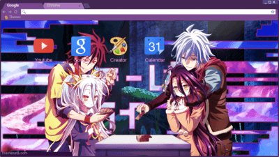 No Game No Life Zero Chrome Themes Themebeta