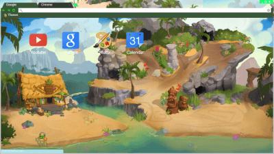 Image of: Beta Crystal Sands Themebeta Animal Jam Chrome Themes Themebeta