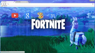 Fortnite Battle Royale Ninja Myth Llama Wallpaper Chrome Themes Themebeta