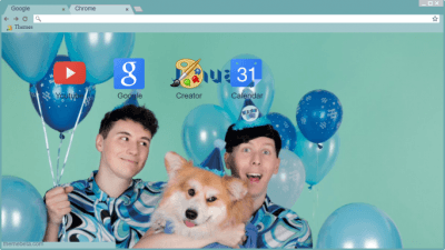 Dan And Phil Chrome Themes Themebeta
