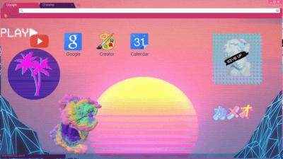 Vaporwave Chrome Themes Themebeta