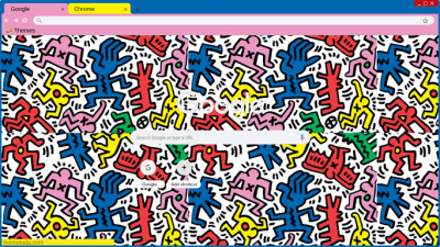 Keith Haring Chrome Themes Themebeta