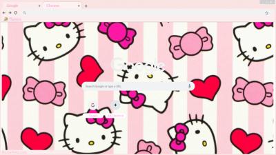 Hello Kitty Chrome Themes Themebeta