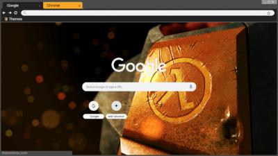 Half Life Chrome Themes - ThemeBeta