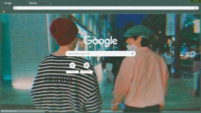 Taehyung Pink Theme Chrome Theme Themebeta