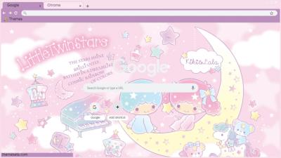 Little Twin Stars Chrome Themes Themebeta