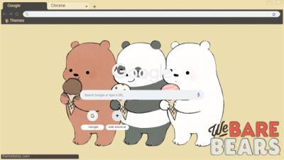 we bare bears Chrome Themes - ThemeBeta