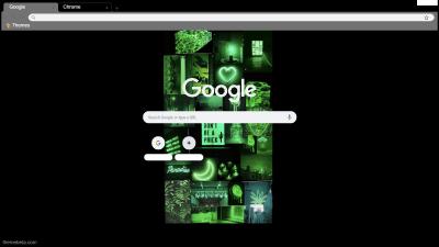 Dark Blue Aesthetic Collage Chrome Theme Themebeta