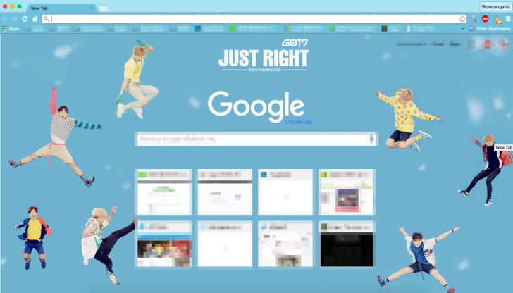 Got7 Desktop Wallpaper Just Right By Chrome Theme Themebeta