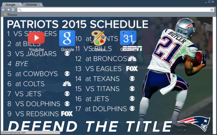 patriots 2015 schedule chrome theme themebeta