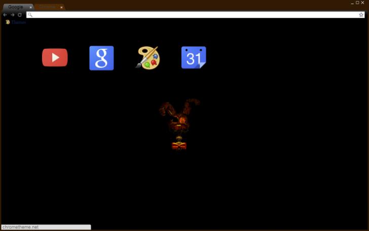 fnaf 4 halloween update theme Chrome Theme - ThemeBeta