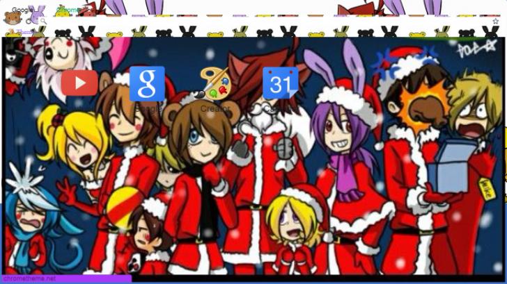 Fnaf Christmas.Fnaf Christmas Chrome Theme Themebeta