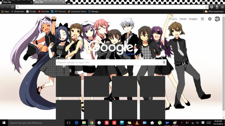 Mirai Nikki: Happy Cast (Future Diary) Chrome Theme - ThemeBeta