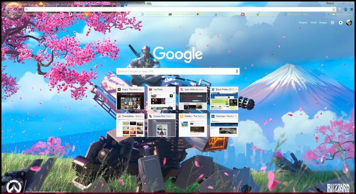 Overwatch Genji v3.2 Chrome Theme - ThemeBeta