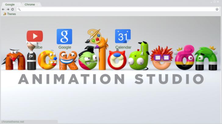 Nickelodeon Logo 2 Chrome Theme - ThemeBeta