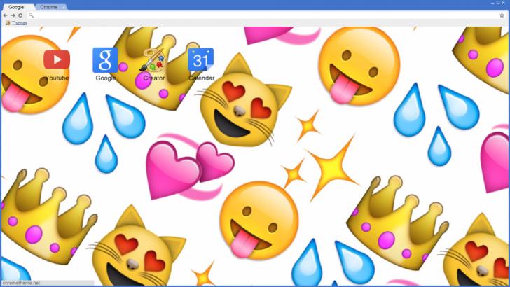 emoji background Chrome Theme - ThemeBeta