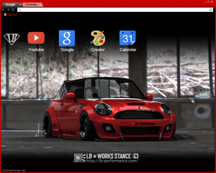 Mini Cooper Liberty Walk Chrome Theme
