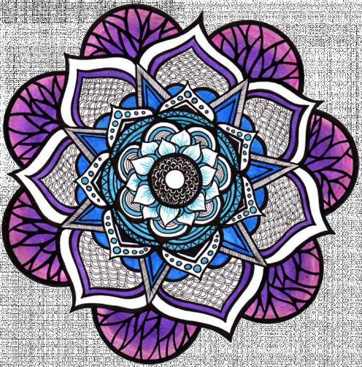 tumblr flower mandala Chrome Theme - ThemeBeta