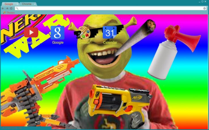 Dank Shrek HD Chrome Theme - ThemeBeta