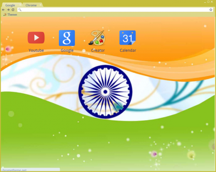 Indian Flag Theme: Indian Flag Chrome Theme