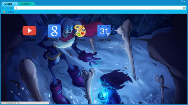 Undertale - Papyrus Boss fight! Chrome Theme - ThemeBeta