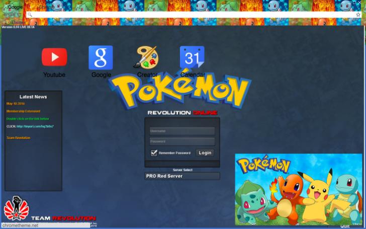Pokemon Revolution Online Chrome Theme Themebeta