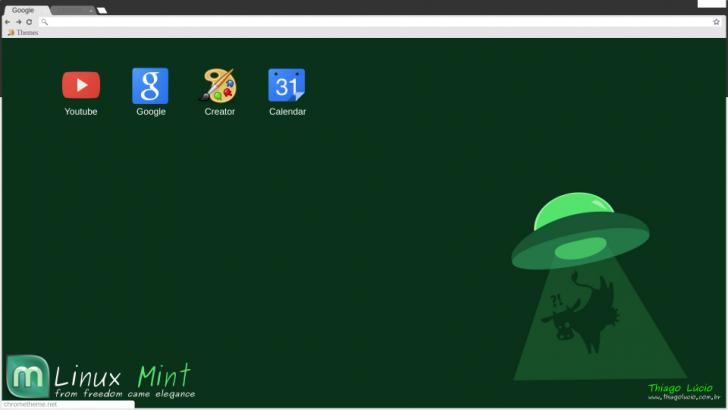 Linux Mint Theme Sci-fi Flat Chrome Theme - ThemeBeta