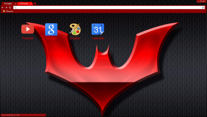 Batman Beyond Symbol Chrome Theme Themebeta