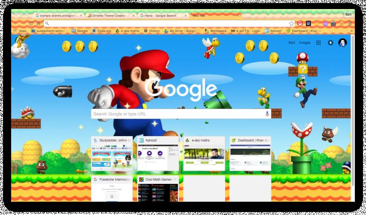 Super Mario Theme 2 0 Chrome Theme - ThemeBeta