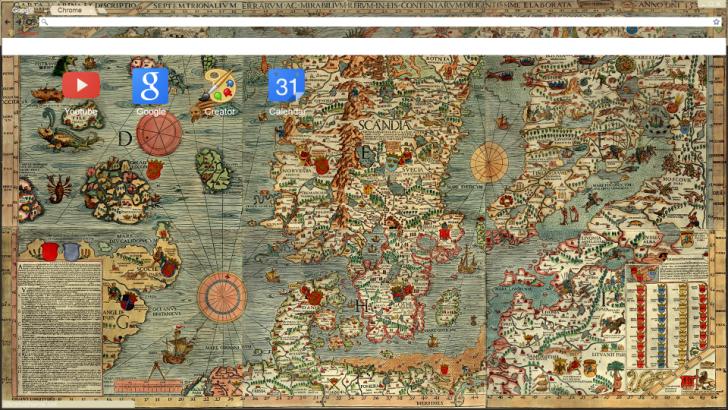 Medieval map of Baltic Sea Chrome Theme - ThemeBeta