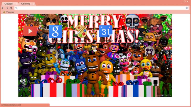 fnaf world christmas Chrome Theme - ThemeBeta