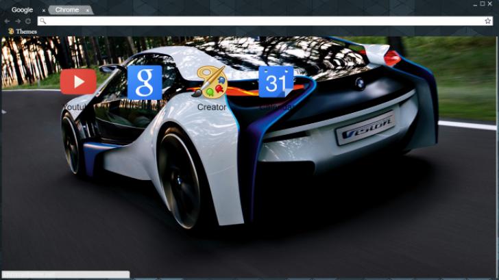 Bmw I8 Rear View Chrome Theme Themebeta