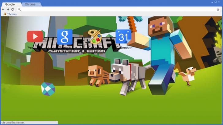 Minecraft PS3 Theme Chrome Theme - ThemeBeta