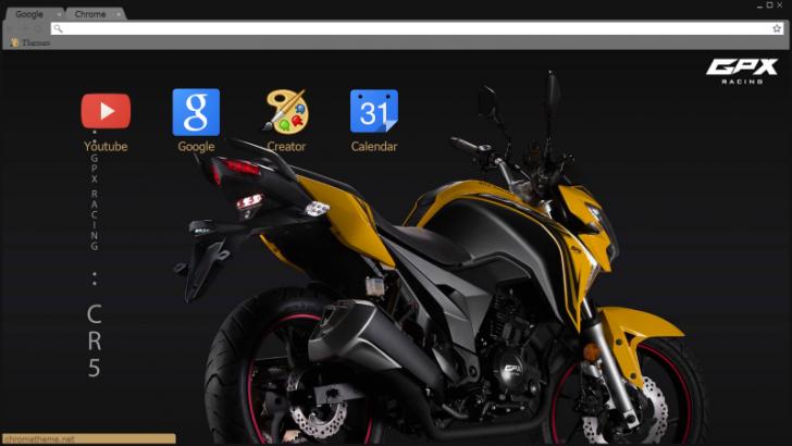 MOTOCYCLE GPX CR5 200cc Chrome Theme - ThemeBeta